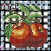 Схема вышивки яблоко крестом